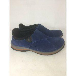 ACORN Blue Suede Slip Ons Women's Flats Shoes